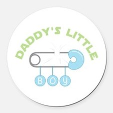 Daddys Little Boy Round Car Magnet