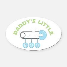 Daddys Little Boy Oval Car Magnet