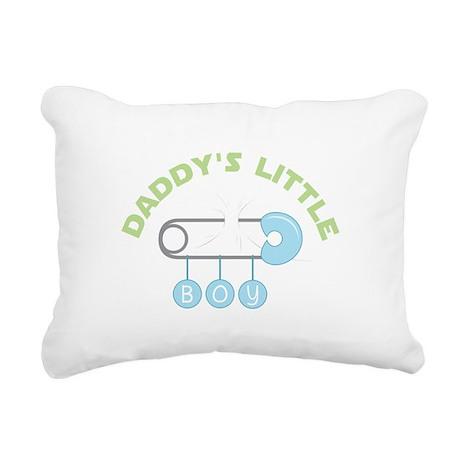 Daddys Little Boy Rectangular Canvas Pillow