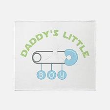 Daddys Little Boy Throw Blanket