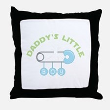 Daddys Little Boy Throw Pillow