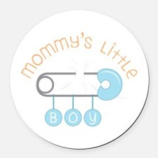 Mommys Little Boy Round Car Magnet