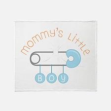 Mommys Little Boy Throw Blanket