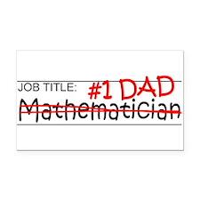 Job Dad Mathematician Rectangle Car Magnet