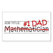 Job Dad Mathematician Decal
