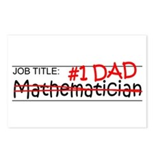 Job Dad Mathematician Postcards (Package of 8)
