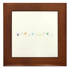 Diaper Pins Framed Tile