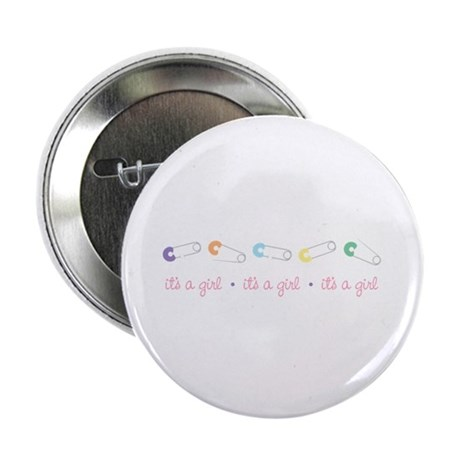 "its A Girl 2.25"" Button (10 pack)"