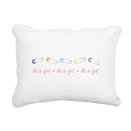 its A Girl Rectangular Canvas Pillow