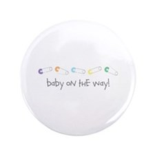 """Baby On The Way 3.5"""" Button (100 pack)"""
