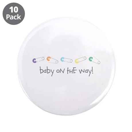 "Baby On The Way 3.5"" Button (10 pack)"