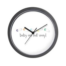 Baby On The Way Wall Clock