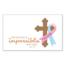 Nothing Is Impossible with God Decal