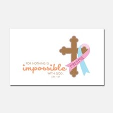 Nothing Is Impossible with God Car Magnet 20 x 12