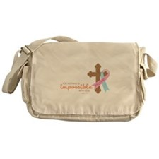 Nothing Is Impossible with God Messenger Bag