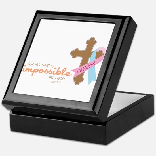 Nothing Is Impossible with God Keepsake Box