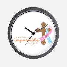 Nothing Is Impossible with God Wall Clock