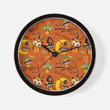 Halloween Owls 2 Wall Clock