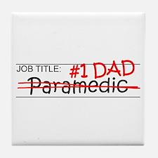 Job Dad Paramedic Tile Coaster