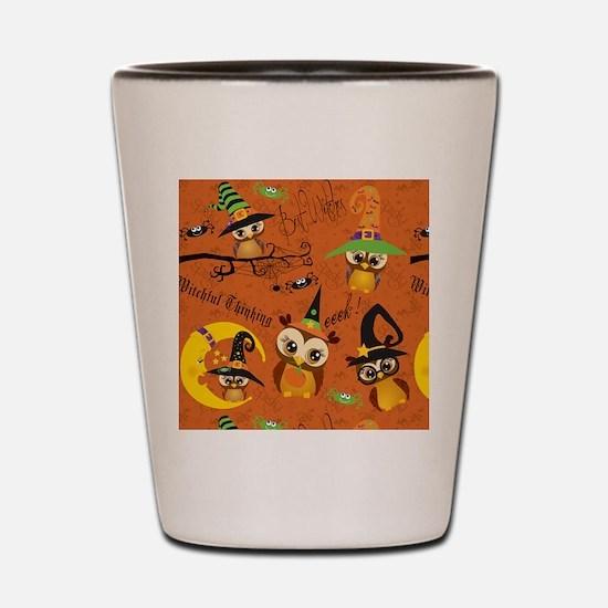 Halloween Owls 2 Shot Glass