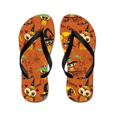 Halloween Owls 2 Flip Flops