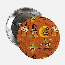 """Halloween Owls 2 2.25"""" Button"""