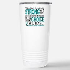 Ovarian Cancer HowStron Travel Mug