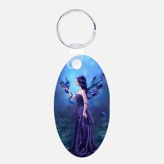 Iridescent Fairy Dragon Art Keychains