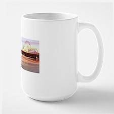 Santa Monica Pier Sunrise Large Mug