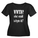 WWTD Women's Plus Size Scoop Neck Dark T-Shirt