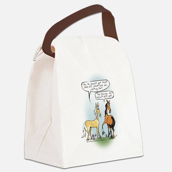 Horse Health Shoe Toss Canvas Lunch Bag