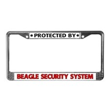Beagle Security License Plate Frame