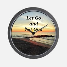 LET GO AND LET GOD Wall Clock