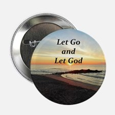 "LET GO AND LET GOD 2.25"" Button (10 pack)"