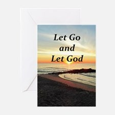 LET GO AND LET GOD Greeting Cards (Pk of 10)