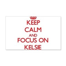 Keep Calm and focus on Kelsie Wall Decal