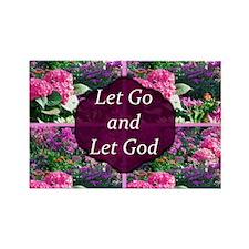 LET GO LET GOD Rectangle Magnet (10 pack)