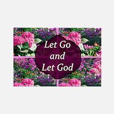 LET GO LET GOD Rectangle Magnet (100 pack)