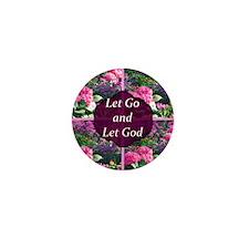 LET GO LET GOD Mini Button
