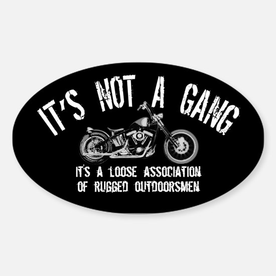 Rugged Outdoorsmen Oval Decal