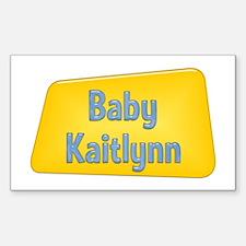 Baby Kaitlynn Rectangle Decal