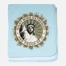Right Wing Extremist baby blanket