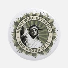 Right Wing Extremist Ornament (Round)