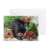 Black bear christmas Greeting Cards (20 Pack)