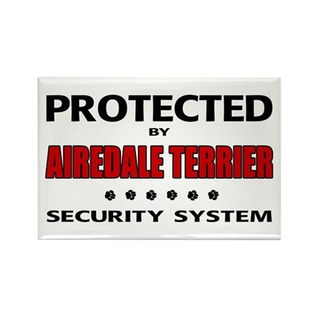 Airedale Terrier Security Rectangle Magnet