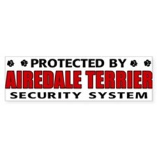 Airedale Terrier Security Bumper Car Sticker