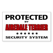 Airedale Terrier Security Rectangle Decal