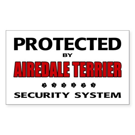 Airedale Terrier Security Rectangle Sticker