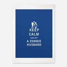 Keep Calm and Get a Zombie Husband - FULL 5'x7'Are