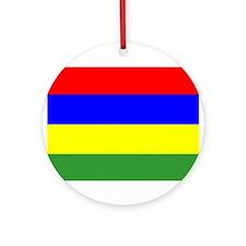 Mauritius Flag Ornament (Round)